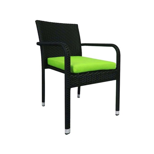 Jardin Outdoor Dining Chair with Green Cushion