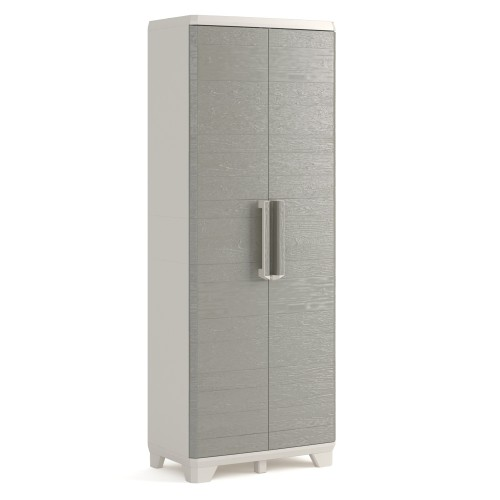 Wood Grain Utility Cabinet With Installation