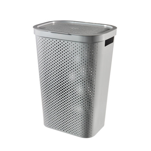 Infinity Laundry Hamper Dots Grey