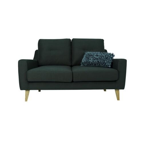 Malibu 2 Seater Sofa with Oak Leg, Dark Green