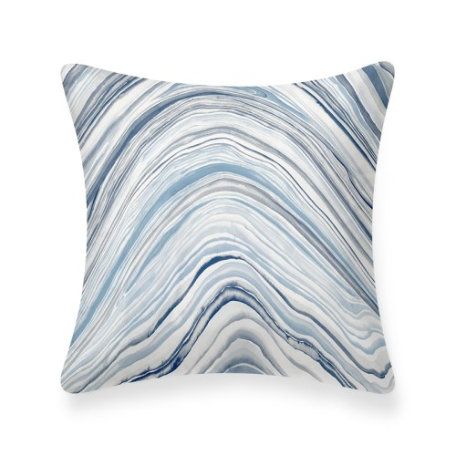 Platt Cushion (White/Blue)