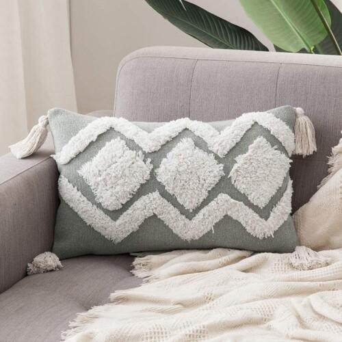 Chaka Tufted Cushion With Tassles