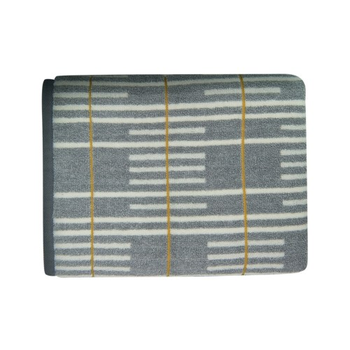 MH Enzo Jacquard Bath Towel (Grey)