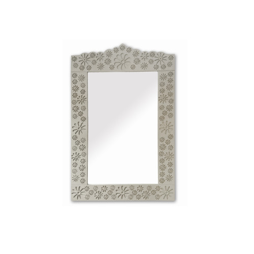 Philos - Flower Collection Grey Flower Pattern Wall Mirror (MR107-GRY)