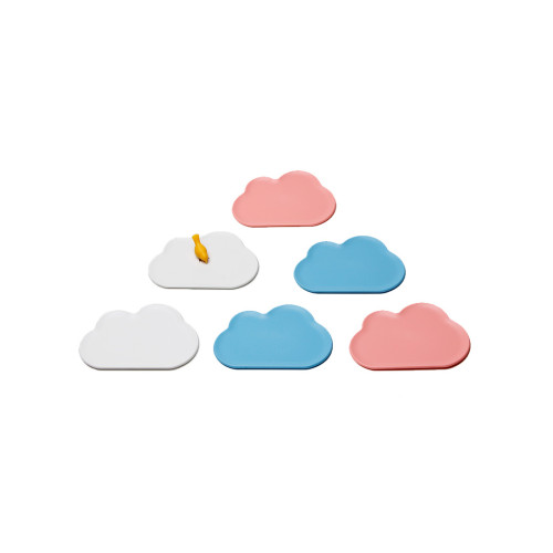 Cloud Coaster Set (Blue and Pink) by Qualy