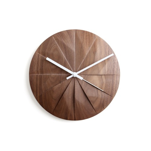Shady: Wall Clock (Walnut) by Pana Objects
