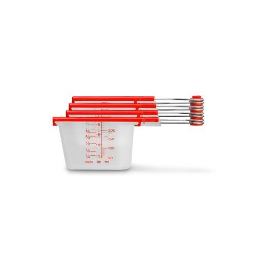 Levups - Scrape Level Measuring Cups (Red) by Dreamfarm
