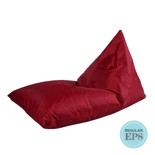 Tetra Lounger bean bag by SG Beans (Dark Red, Regular EPS beans filling)