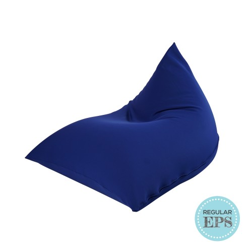 Tetzzz Spandex Lounger bean bag by SG Beans (Navy, Regular EPS beans filling)
