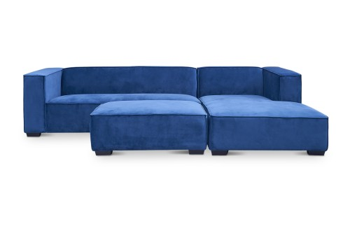 Vien 4-Seater L Shape-LEFT Rest Section when Seated (Dark Blue)