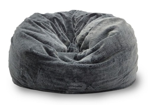 Achelous Bean Bag in Large Sized - Charcoal Black