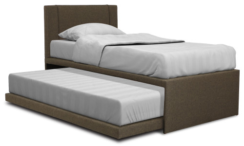 Nayler Single Size Fabric Bedframe in Brown