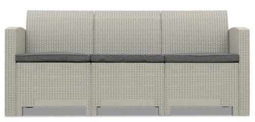 Nina 3 Seater Sofa (Light Grey)