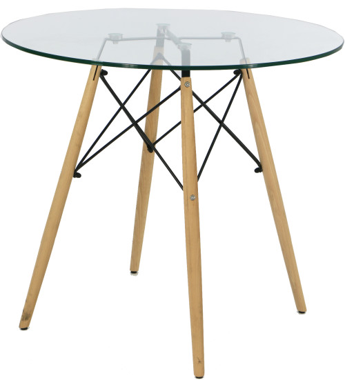 Nomu Glass Round Table (Clear)
