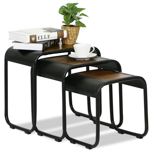 Tamazi Nesting Table Set Coffee Tables Living Room Furniture Furniture Home D Cor Fortytwo