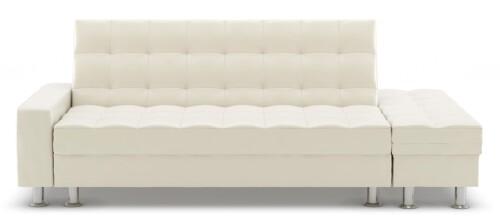 Thora Multi-Storage Sofa Bed (PVC White)