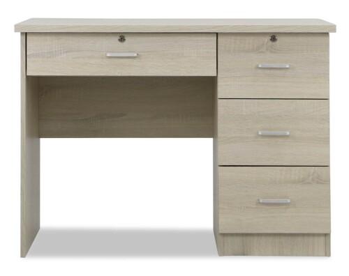Shane Study  Desk  (White-Wash)