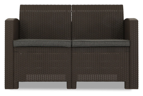 Nina 2 Seater Sofa (Brown)