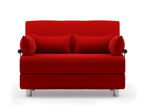 Rolly sofa bed fabric red furniture home d cor for Small sofa singapore