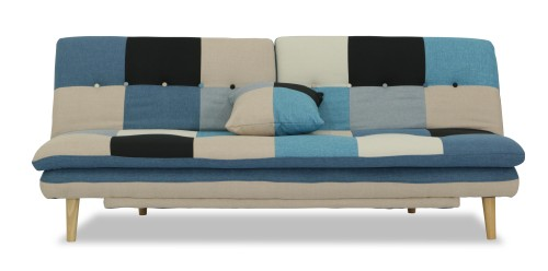 Jeza Patchwork Sofa Bed Blue Mix