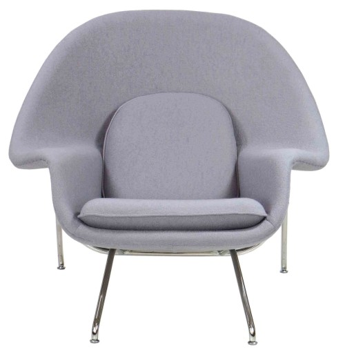 Replica Womb Chair (Light Grey)