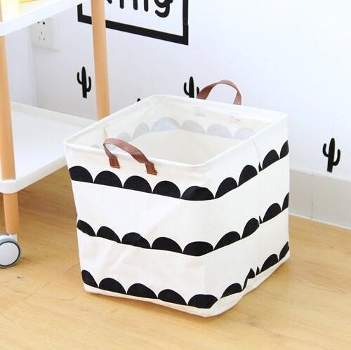 Whina Storage Basket (White/Black)