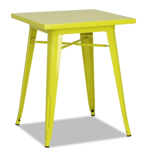 Tolia Metal Bistro Table in Yellow
