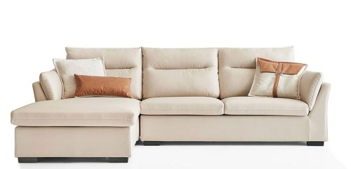 Trasar L-Shape Sofa Rest Section on Right when seated (Cream)