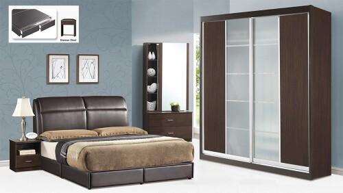 5 Piece Bed Room Set BRS8011 Walnut