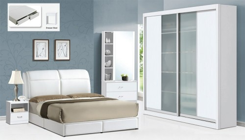 5 Piece Bed Room Set BRS8011 White