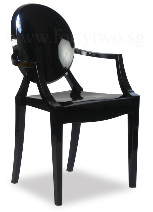 Designer Replica Louis Ghost Arm Chair Black Dining Chairs Dining Room Fu