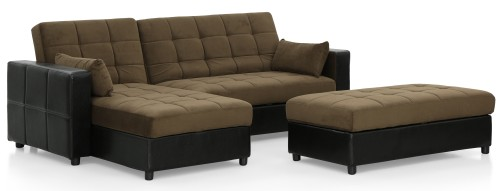 AS-IS Clearance: Albert Multi-Storage Sofa Bed (Fabric Brown) RR36340