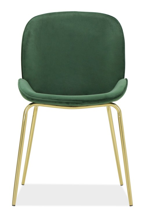 Beetle Chair Replica With Gold Legs (Green)
