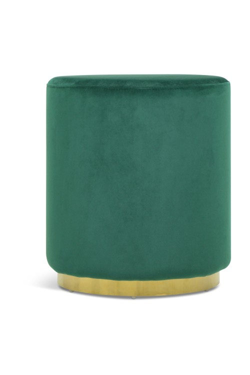 Opal Ottoman with Gold Legs (Velvet Green)