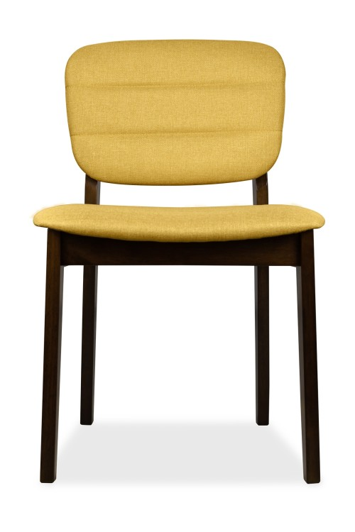 AS-IS Clearance: Monet Dining Chair Walnut with Yellow Cushion RR33006