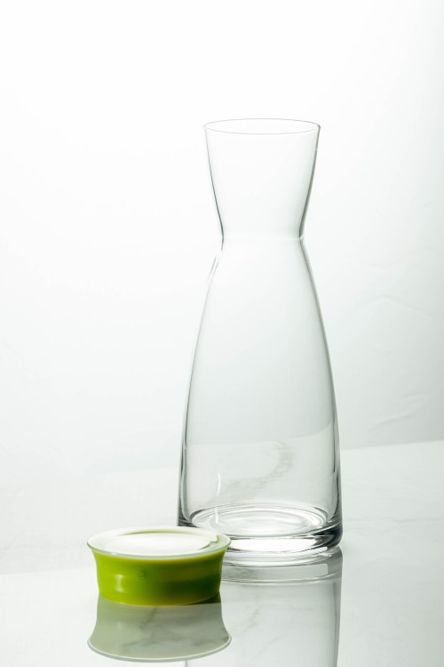 Ypsilon Carafe 1000ml (Clear/Lime Green Lid)
