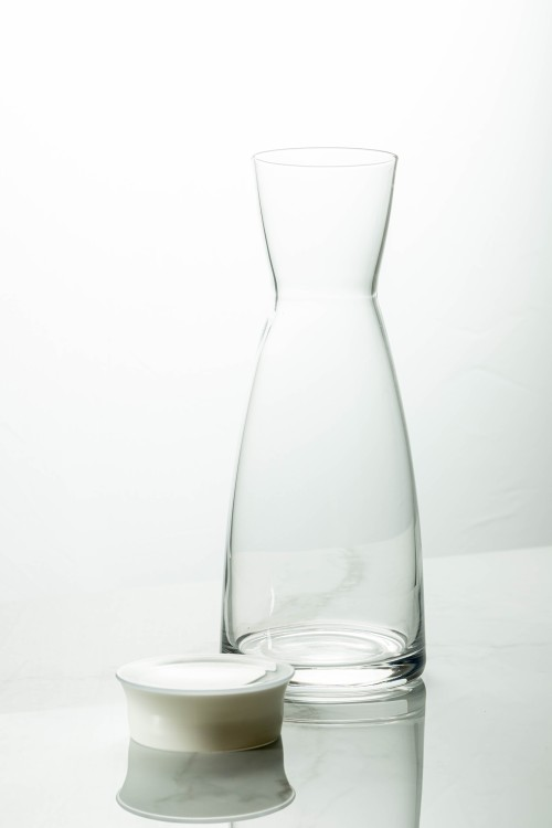 Ypsilon Carafe 1000ml (Clear/White Lid)