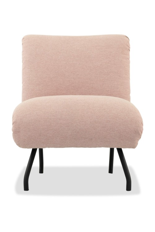 Sylvie Armless Chair in Dusty Pink