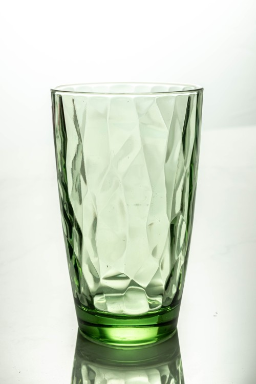 Diamond Cooler Glass 470ml (Forest Green)