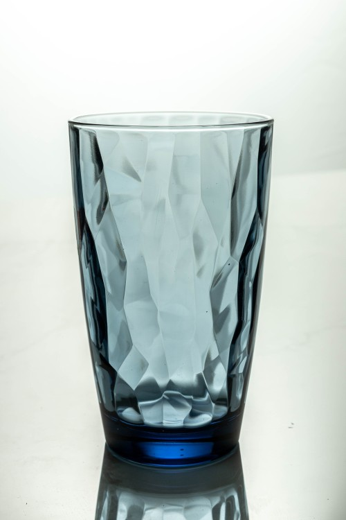 Diamond Cooler Glass 470ml (Ocean Blue)