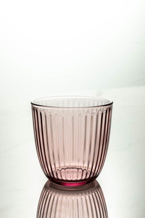 Line Water Glass 290ml (Lilac Rose)