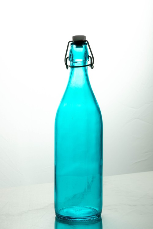 Giara Glass Bottle 1000ml (Cool Blue)