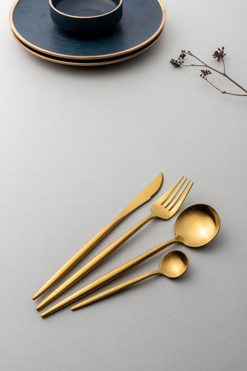 Avery 4-Piece Cutlery Set (Gold)