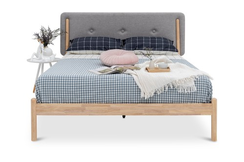 Sarah Queen Bed in Storm Grey