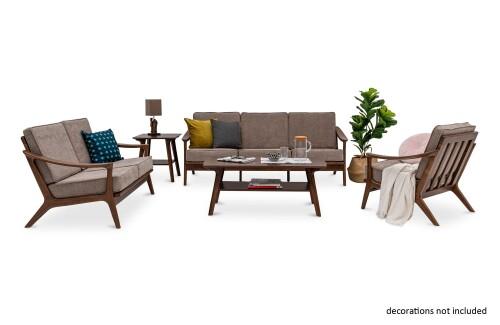 Corban Wooden Modular Sofa Set