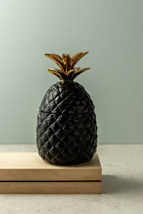 Lexi Pineapple Jar (Black)