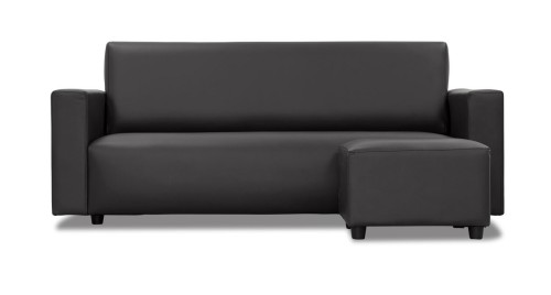 Marvelous Adam 3 Seater Faux Leather Sofa With Stool Alphanode Cool Chair Designs And Ideas Alphanodeonline
