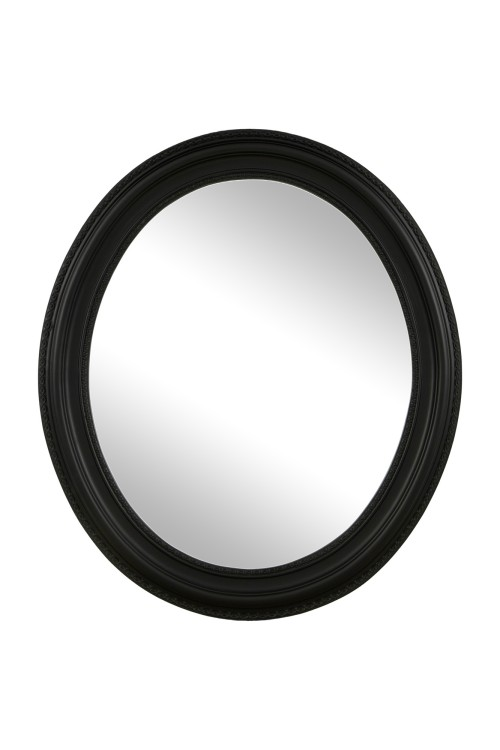 Aima Round Hanging Mirror Black 64cmx64cm