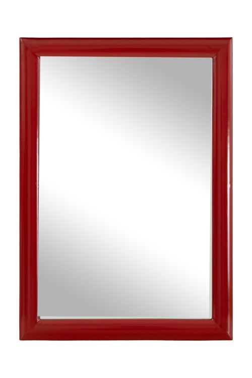 Tangy Hanging Mirror Red 68cmx48cm