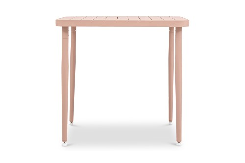 Madie Square Dining Table in Pink